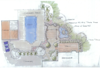 Westfield NJ Backyard Landscape Design Plan