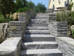 Stone Masonry Stairs Constructed by GA Landscape Design