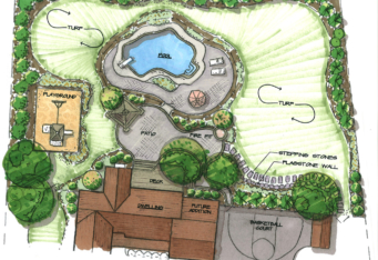Landscape Concept Sketch Rendering by GA Landscape Architect
