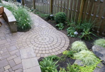 Garden Design and Paver Walkway