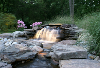 Water Feature Lighting Design by GA Landscape Design