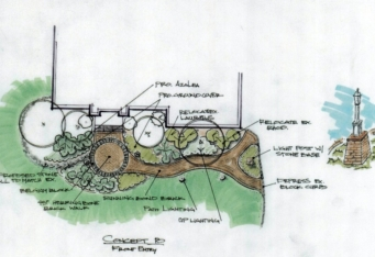 Bridgewater NJ Landscape Design Rendering by GA's Landscape Architect