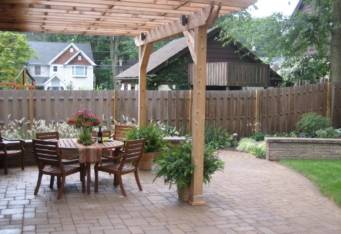 Landscape Construction of a Custom Patio and Pergola Westfield NJ