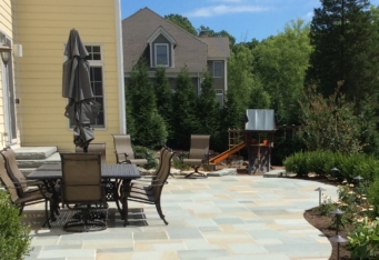 Outdoor Living Spaces complete the landscaping for this Basking Ridge NJ home