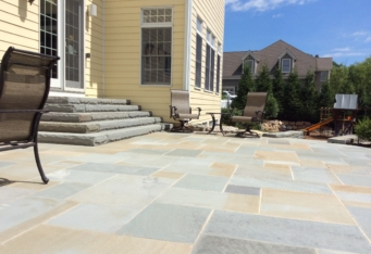 Bluestone Stairs and Patio complete a backyard landscaping project in Basking Ridge NJ