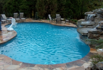 Custom Pool and Spa design complete the landscaping in Scotch Plains NJ