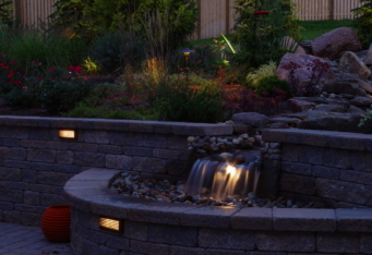 NJ Backyard Night Scapes created with Landscape Lighting