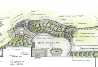 Landscape Architect Rendering of a Basking Ridge NJ Landscape Design