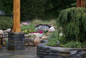 Custom Stone Walls and Waterfall