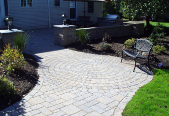 Basking Ridge NJ Landscape Designer created paver patio