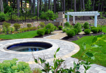 NJ Outdoor Living Spaces complete this luxurious landscaping