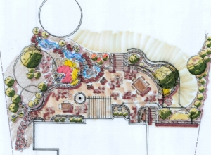 Summit NJ Landscape Design Rendering